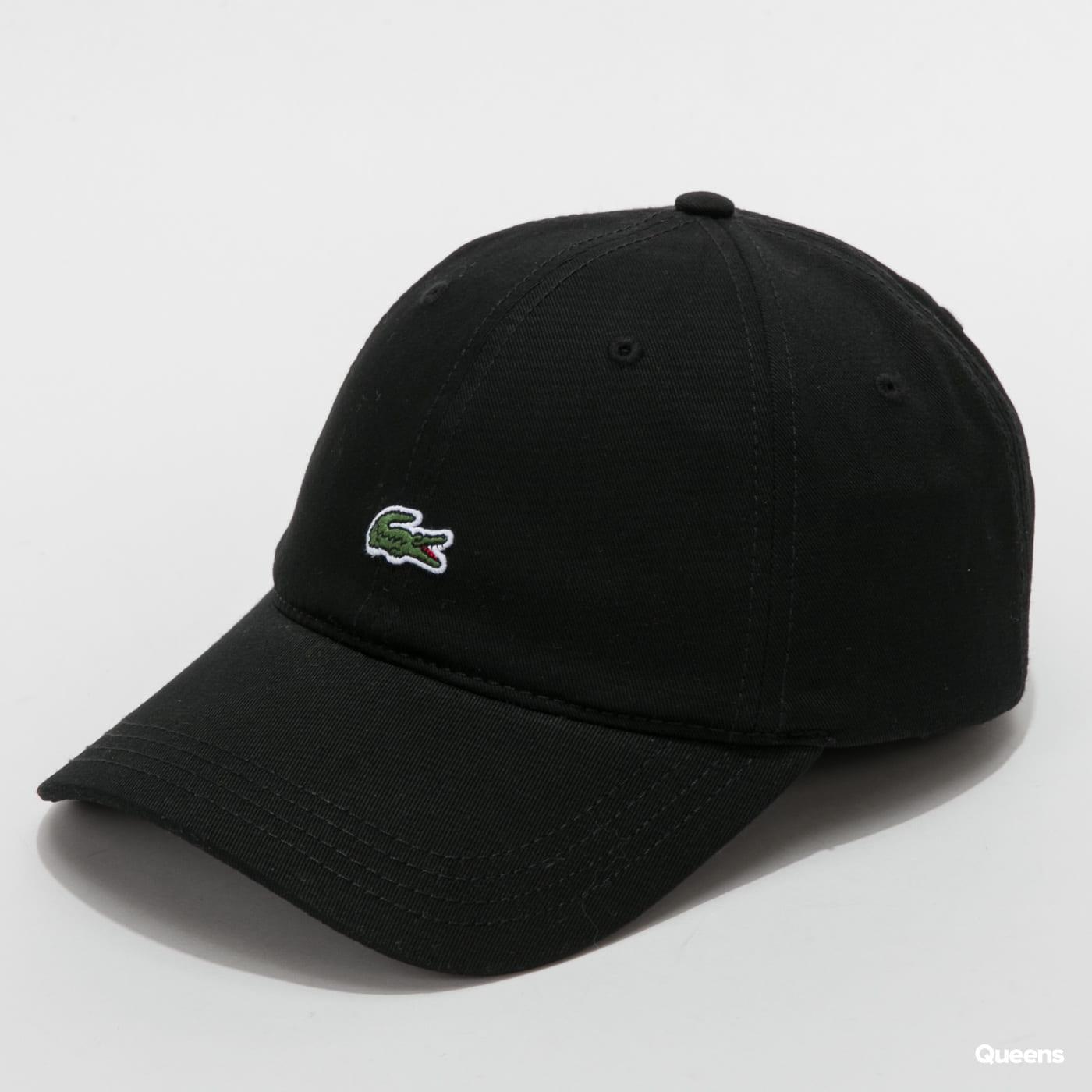 LACOSTE Embroidered Cap čierna