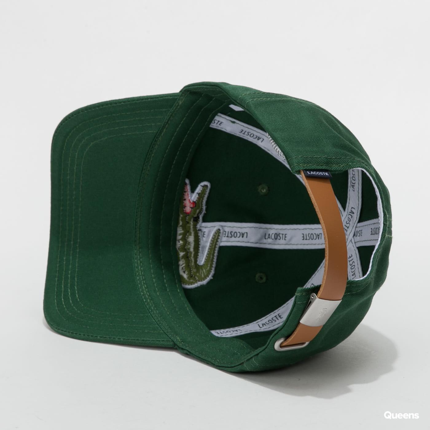 LACOSTE Large Logo Cap zelená