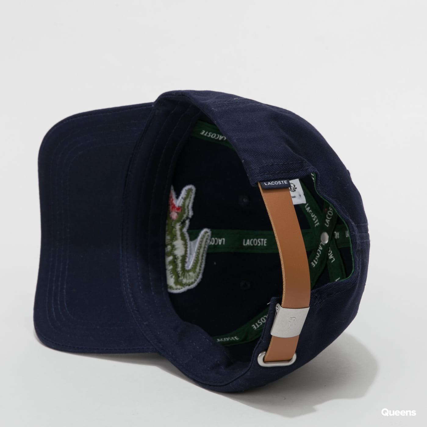 LACOSTE Large Logo Cap navy