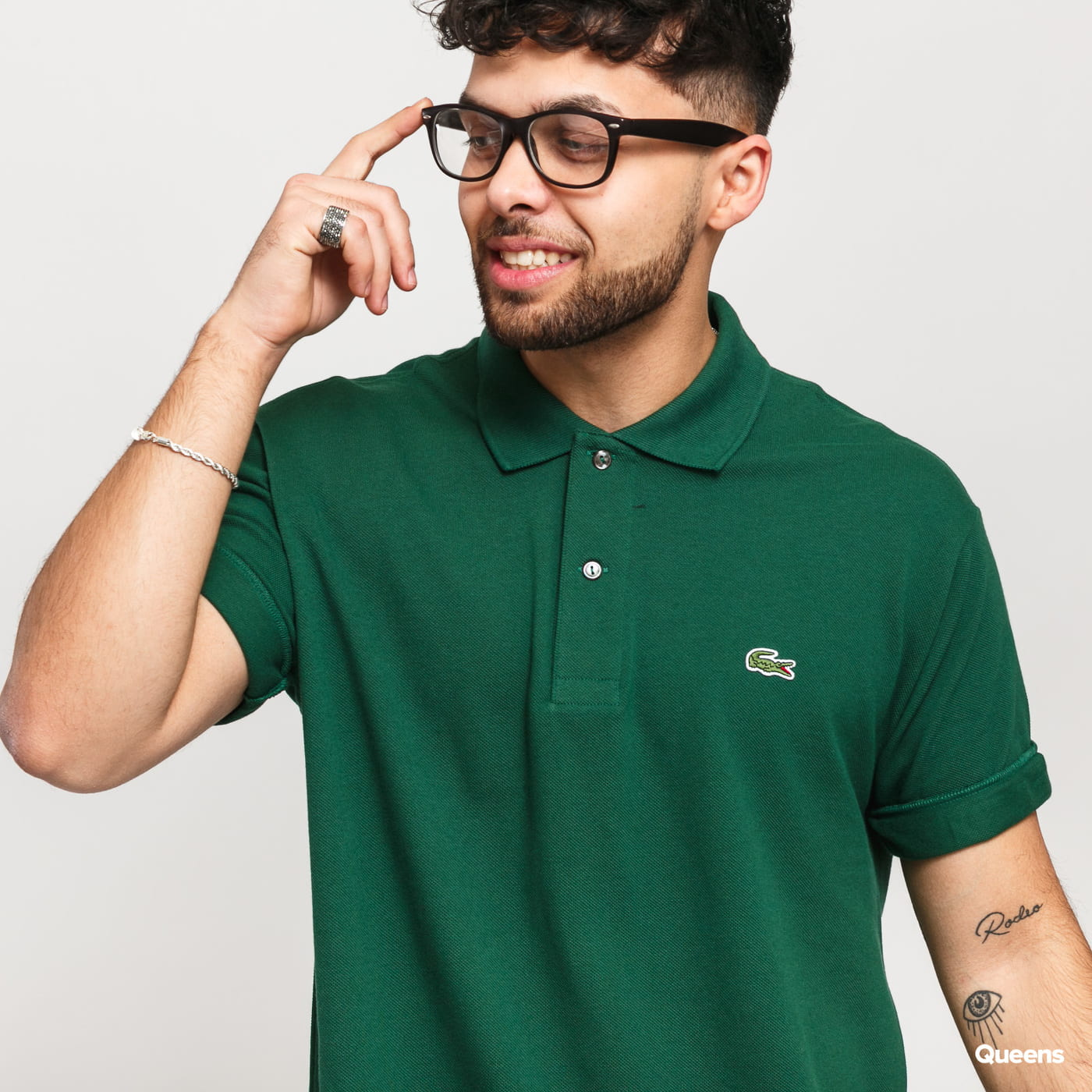 LACOSTE Men's Polo T-Shirt tmavě zelené