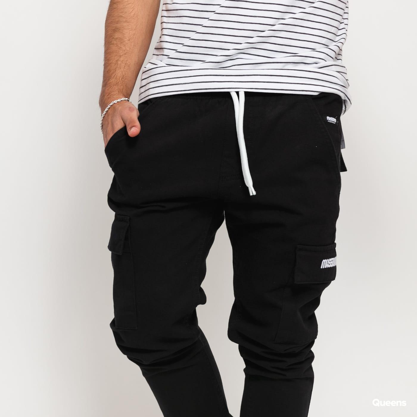 Mass DNM Cargo Jogger Pants black