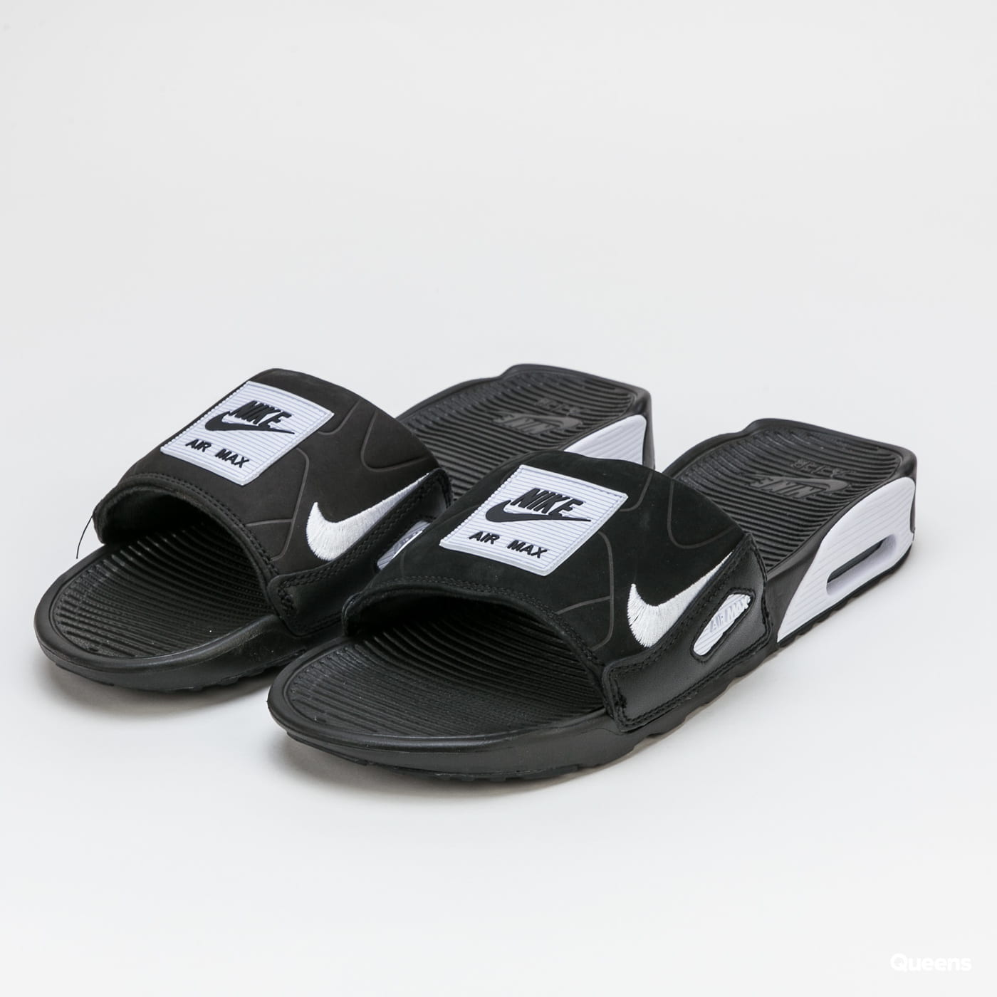 Slippers Nike Air Max 90 Slide Black White Bq4635 002 Queens