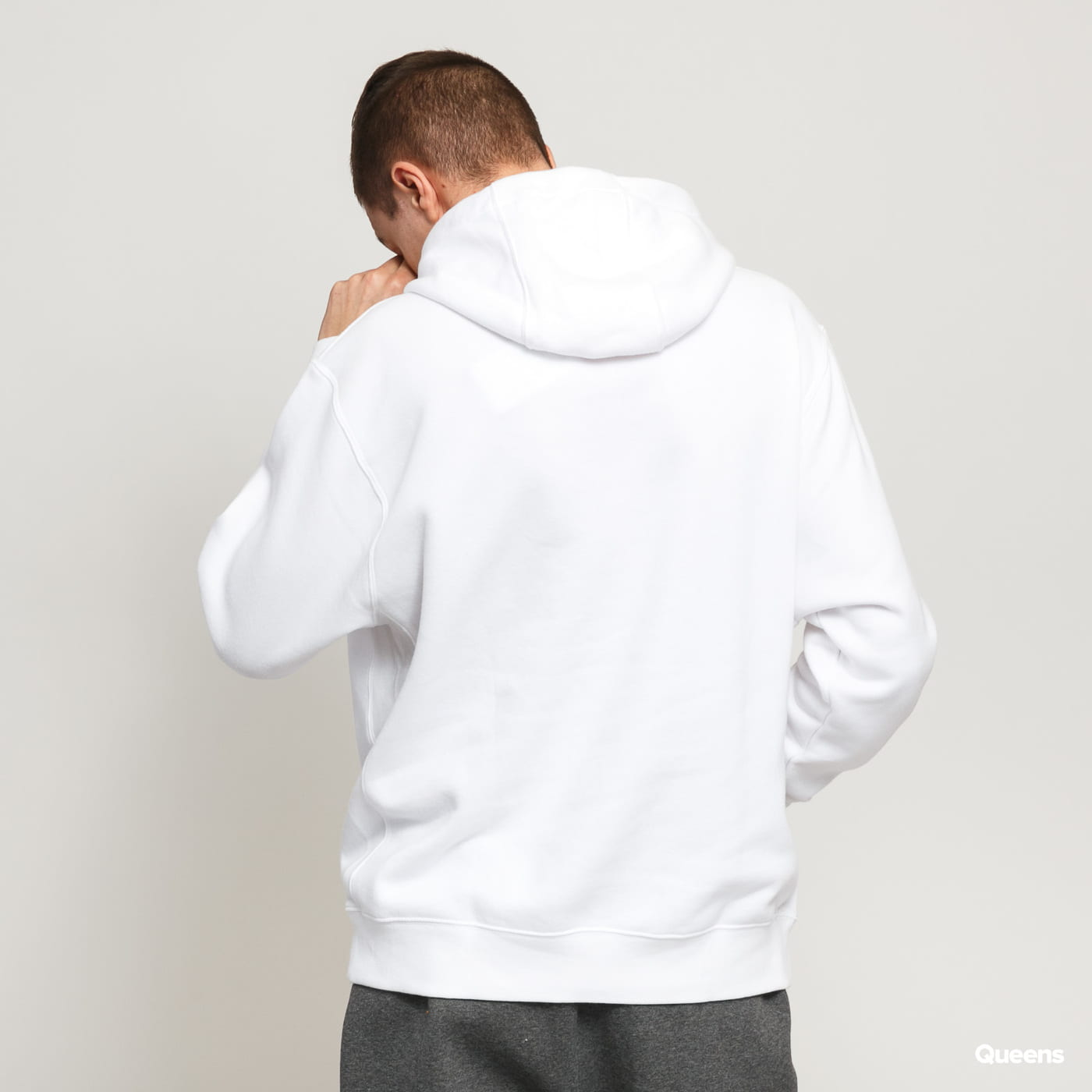 Nike M NSW Club Hoodie PO BB biela