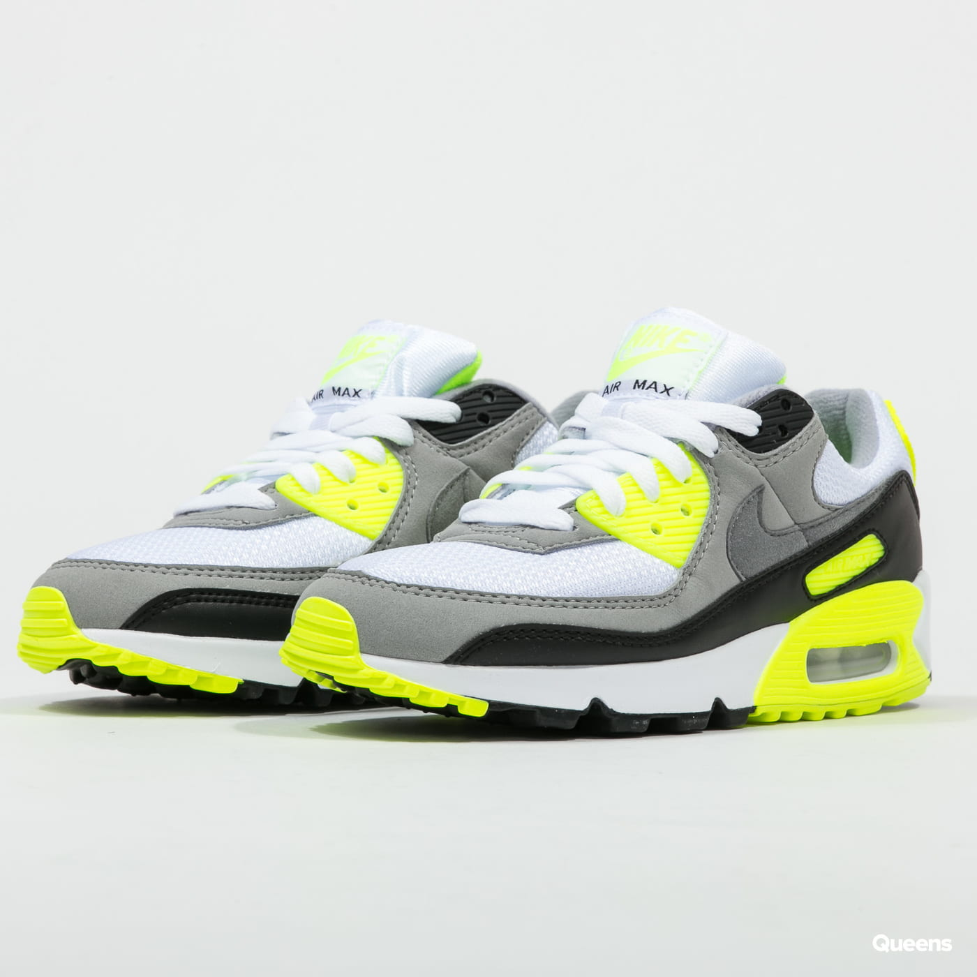 Nike W Air Max 90 White Particle Grey Volt Black Cd0490 101