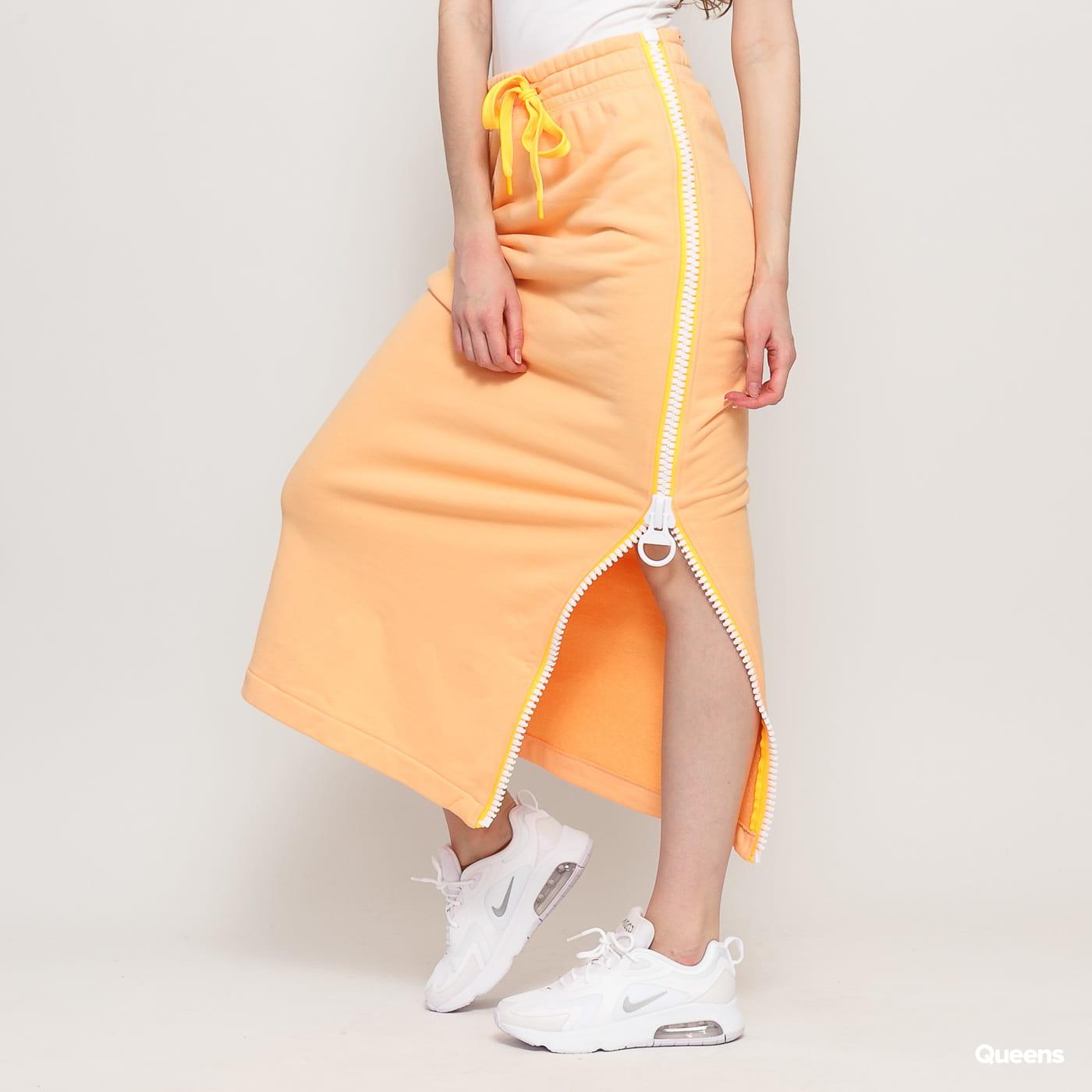 Nike W NSW Fleece Skirt Long light orange