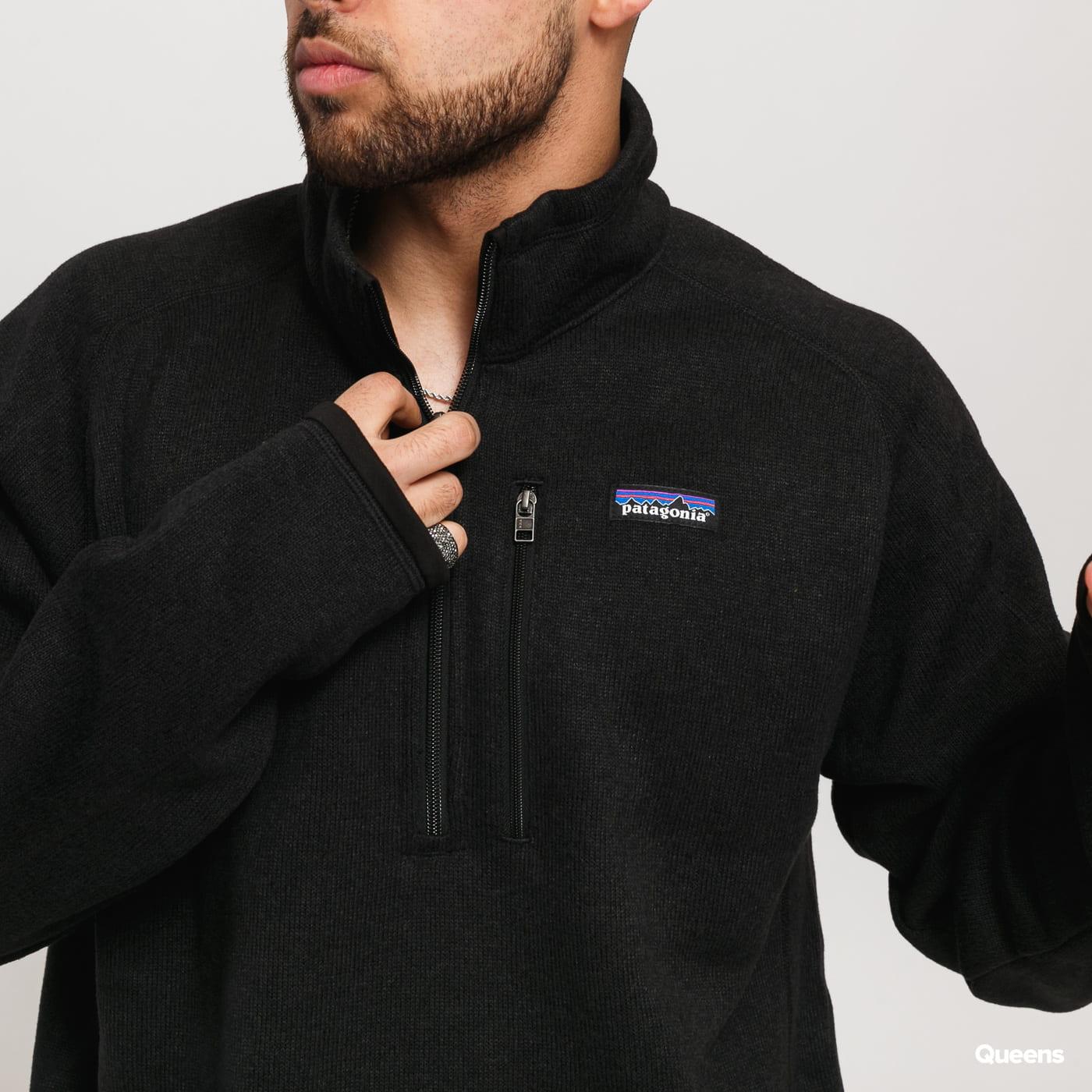 Patagonia M's Better Sweater 1/4 Zip melange čierny