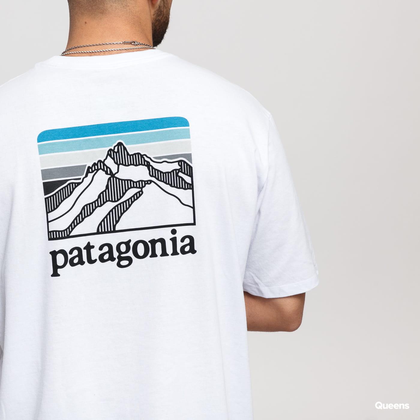 Patagonia M's Line Logo Ridge Pocket Responsibili Tee biele