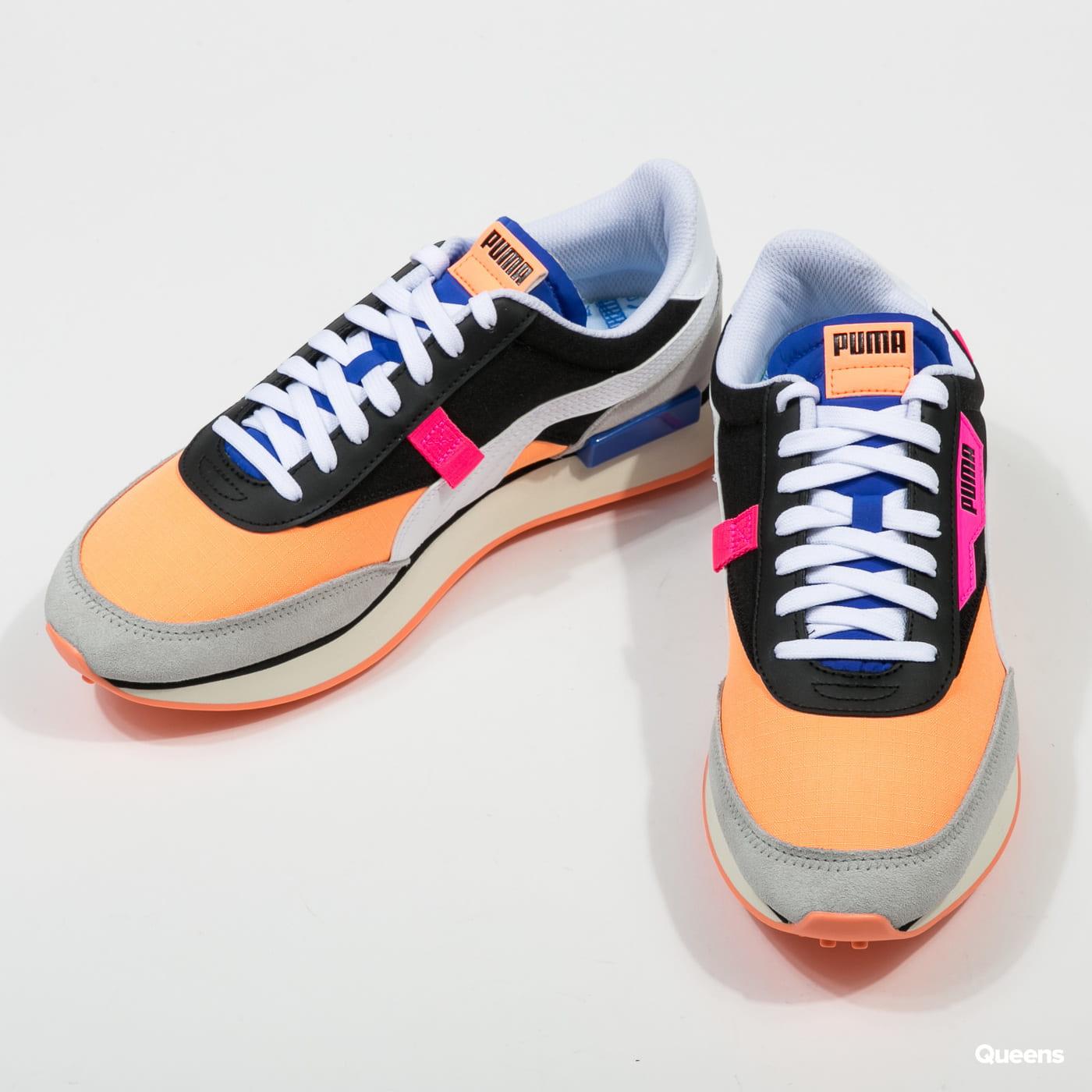 zapatillas muy genial última colección Sneakers Puma Future Rider Play On puma black - fizzy orange ...