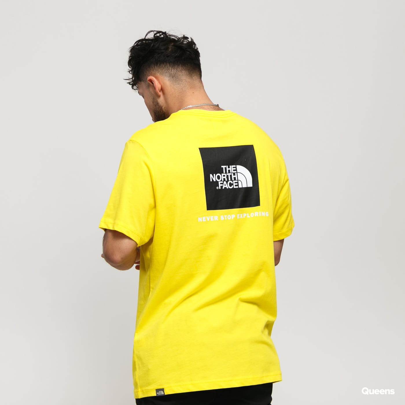 The North Face M SS Red Box Tee yellow
