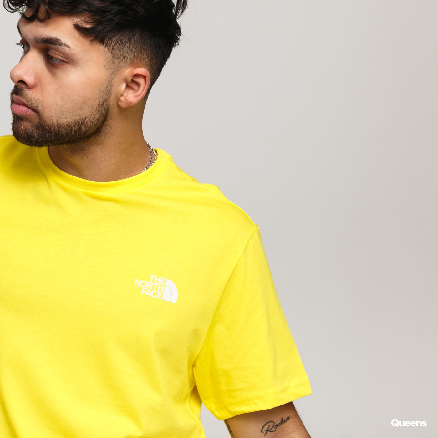 The North Face M SS Simple Dome Tee yellow