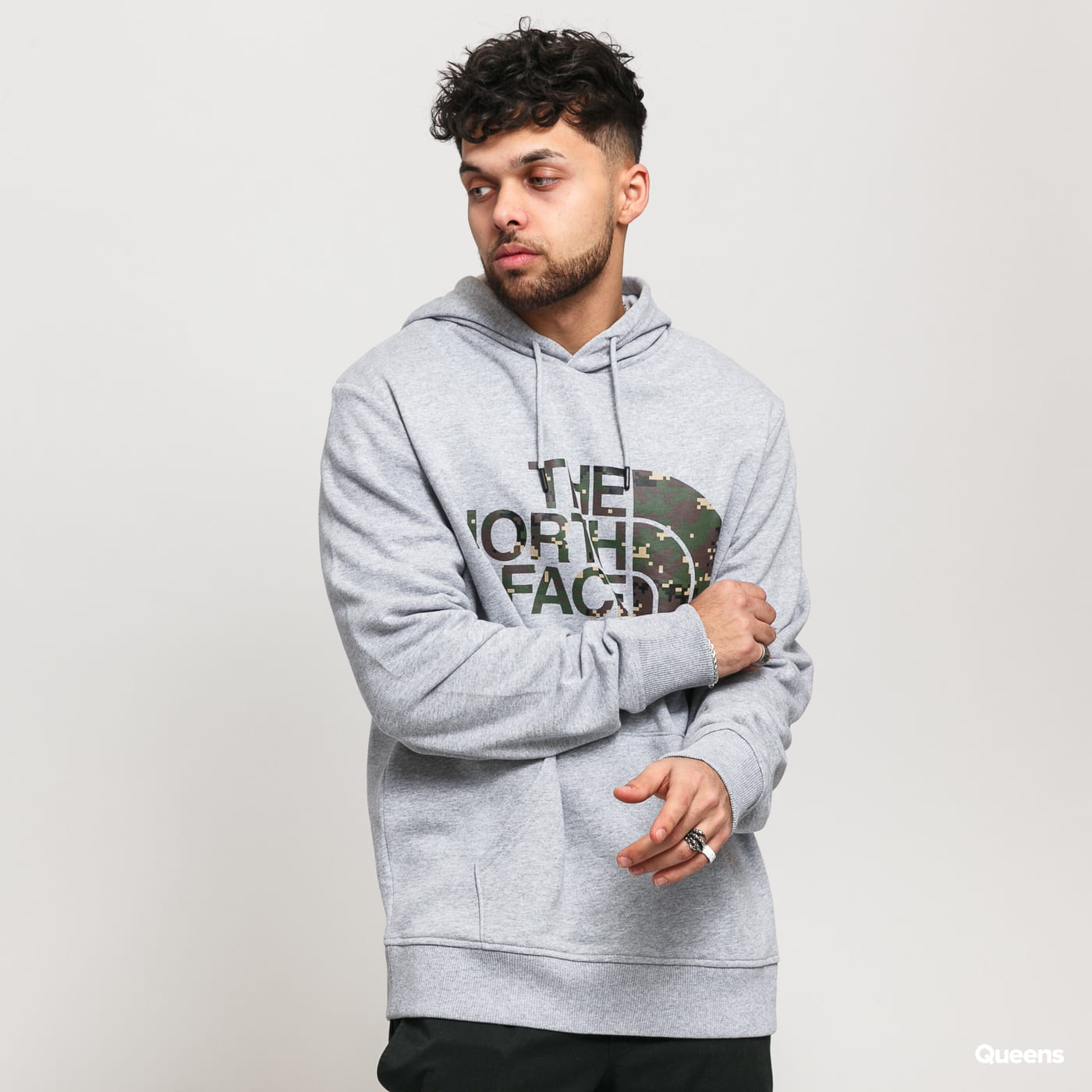 The North Face M Standard Hoodie melange gray