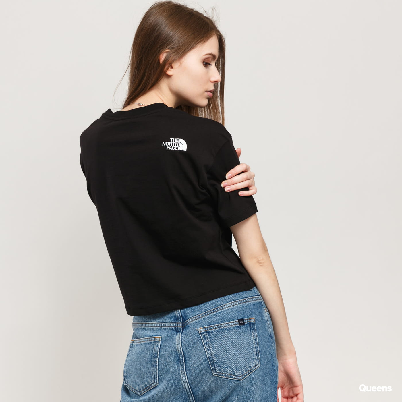 The North Face W Cropped SD Tee black satin