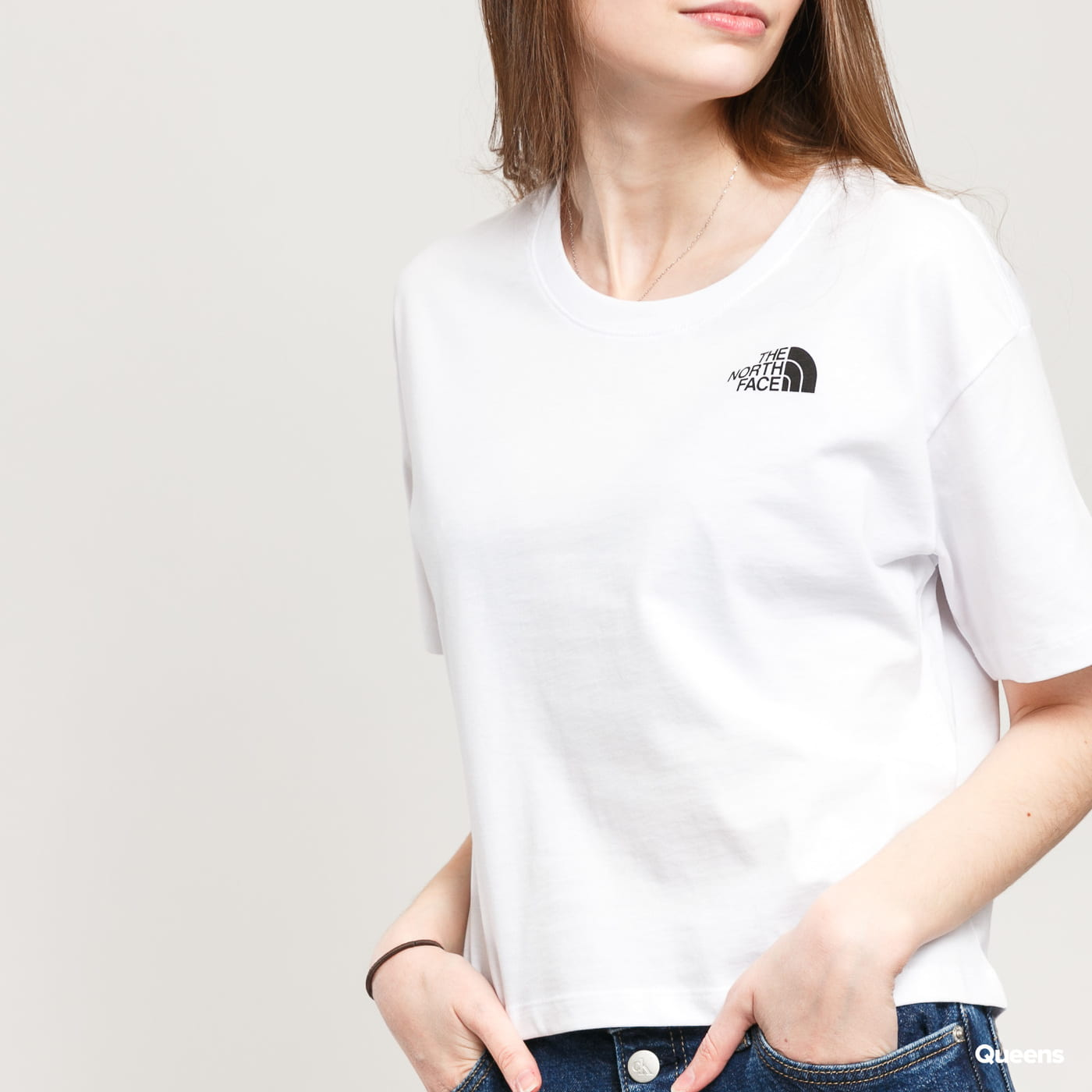 The North Face W Cropped Simple Dome Tee blau / türkis
