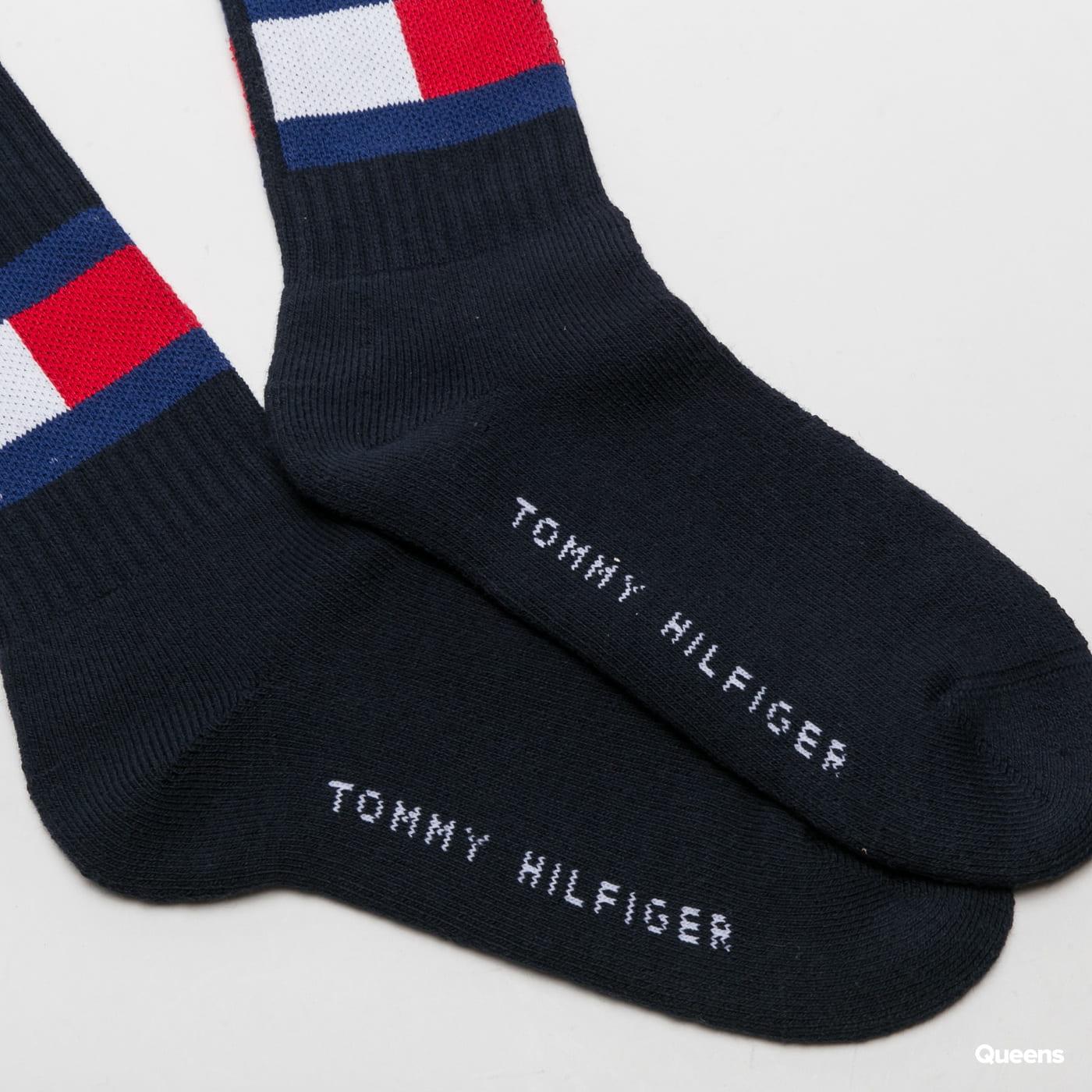Tommy Hilfiger TH Jeans Flag Socks navy
