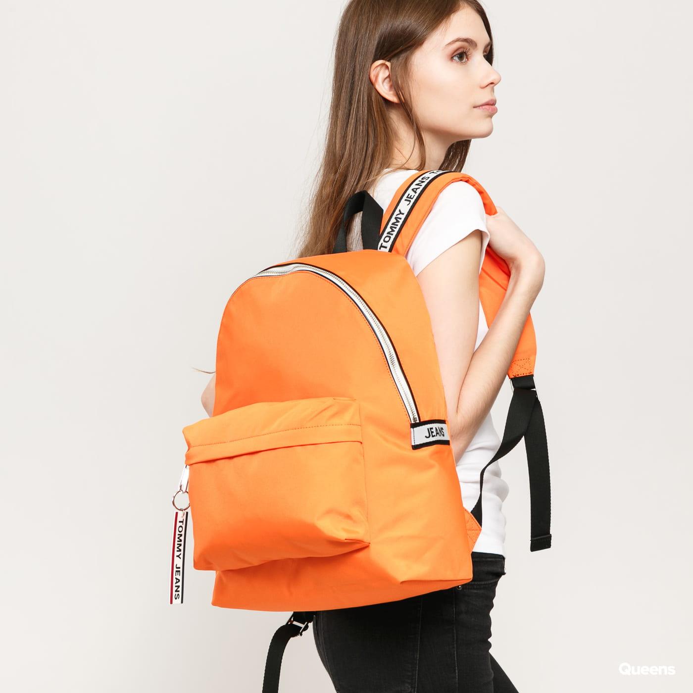 TOMMY JEANS Logo Tape Backpack orange
