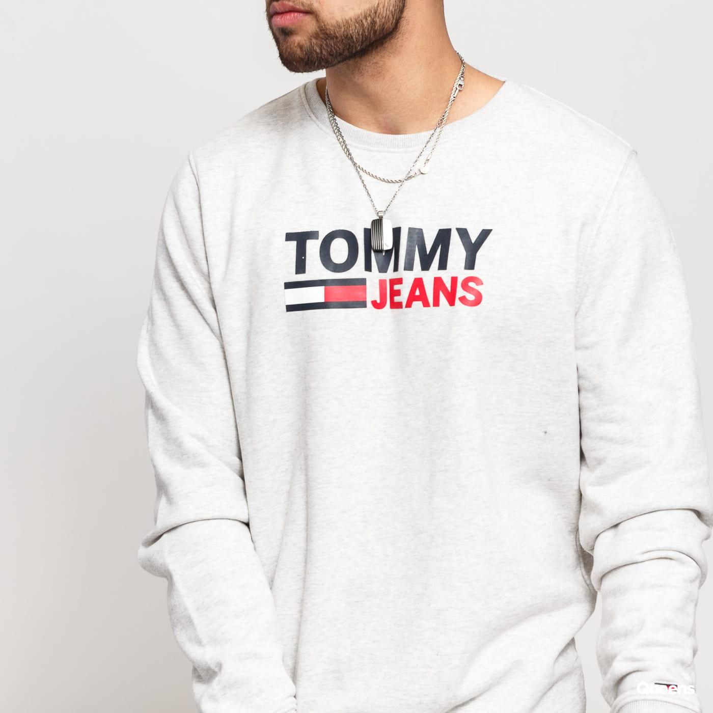 TOMMY JEANS M Corp Logo Crew šedá