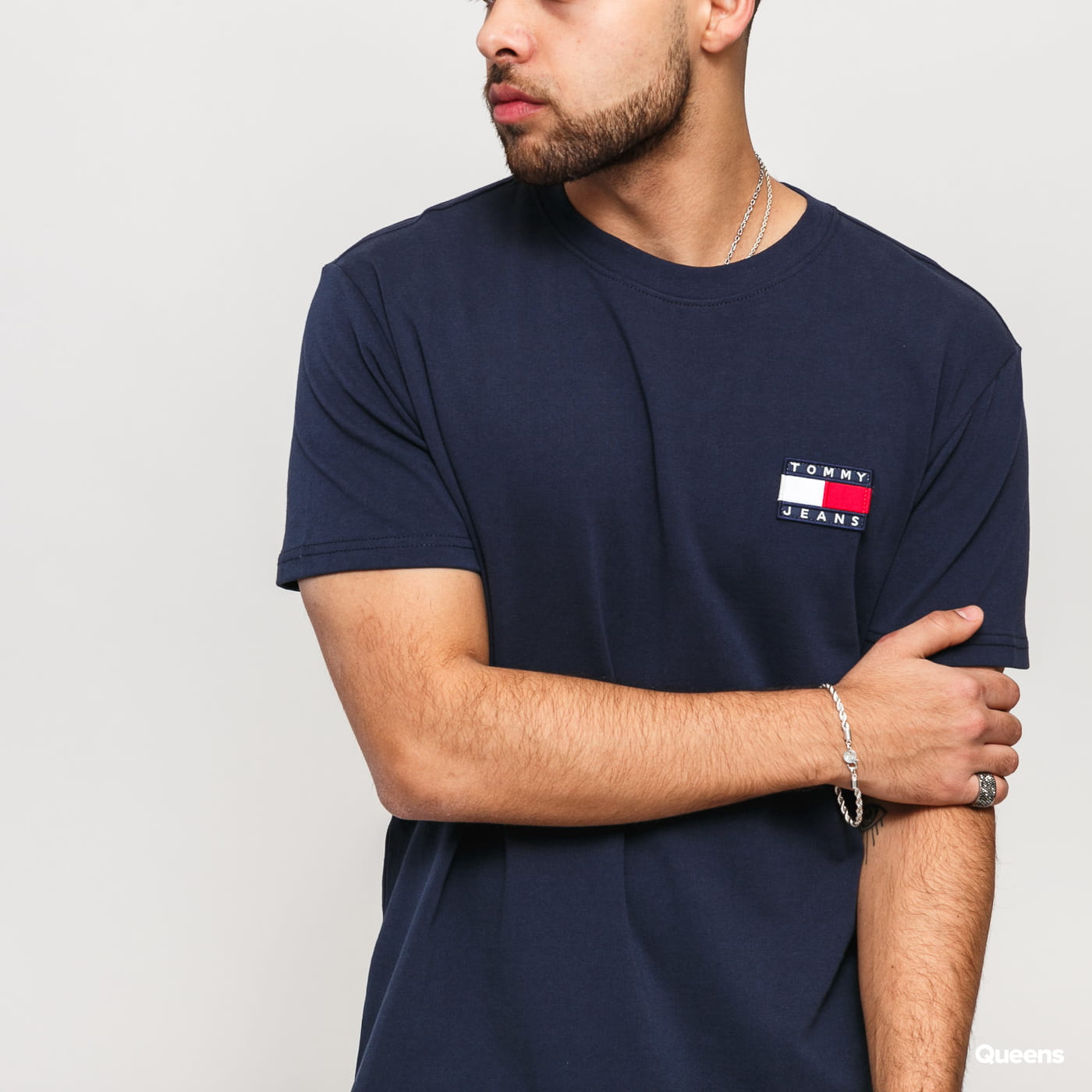 TOMMY JEANS M Tommy Badge Tee navy