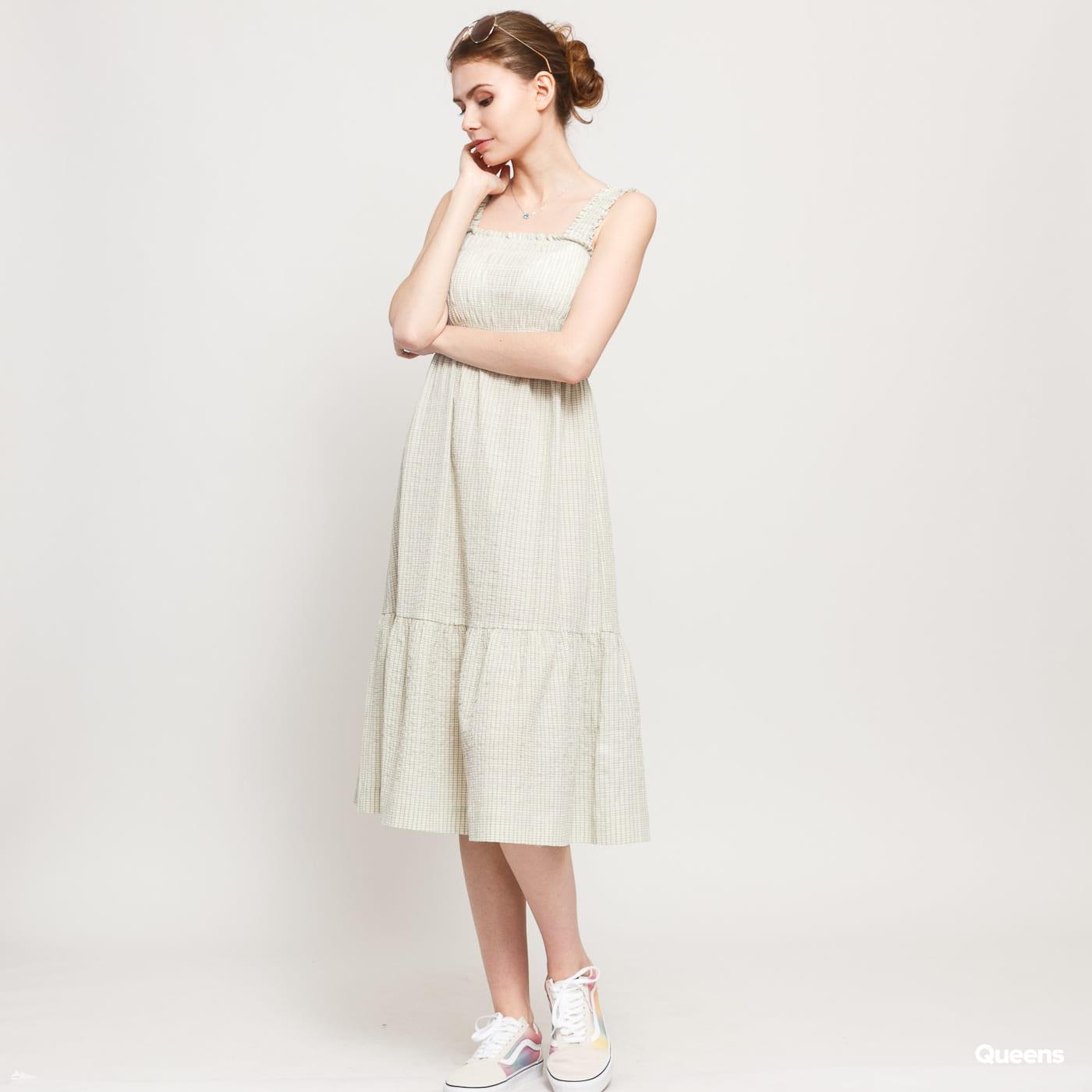 WOOD WOOD Anouk Dress krémové / zelené / béžové