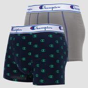Champion Boxery Mix 2Pack navy / zelené / šedé