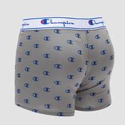 Champion Cotton Boxer Small Logo šedé / modré