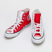 Converse Love Fearlessly Chuck Taylor All Star Hi white / university red / black