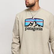Patagonia M's Fitz Roy Horizons Uprisal Crew tmavě béžová