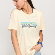 Patagonia W's Pastel P-6 Logo Organic Crew Tee light orange