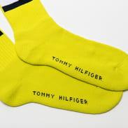 Tommy Hilfiger TH Jeans Flag Socks limetkové