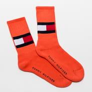 Tommy Hilfiger TH Jeans Flag Socks oranžové