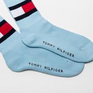 Tommy Hilfiger TH Jeans Flag Socks světle modré