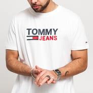TOMMY JEANS M Corp Logo Tee bílé
