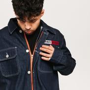 TOMMY JEANS M Oversized Workwear Denim Jacket work dk bl rig