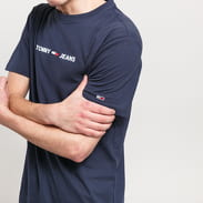 TOMMY JEANS M Straight Small Logo Tee navy
