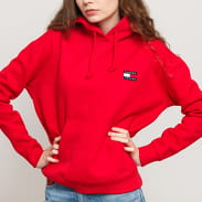 TOMMY JEANS W Tommy Badge Hoody red