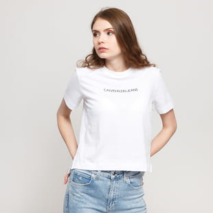 CALVIN KLEIN JEANS W Shrunken Institutional Tee