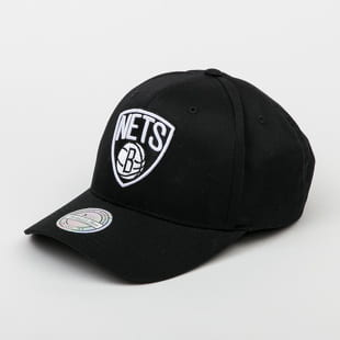 Mitchell & Ness Black And White Logo 110 6 Panel Nets