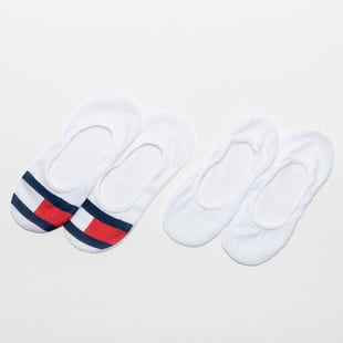Tommy Hilfiger Womens Footie 2Pack Mesh Flag
