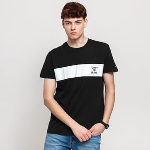 TOMMY JEANS M Chest Stripe Logo Tee