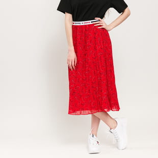 TOMMY JEANS W Pleated Midi Skirt