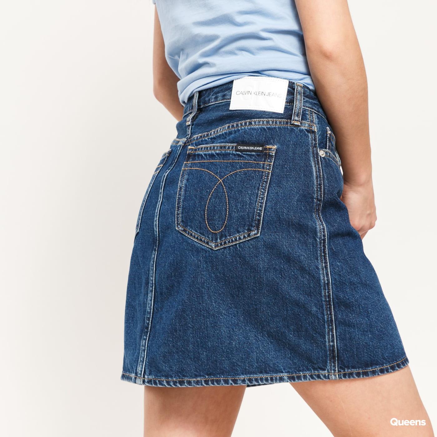 CALVIN KLEIN JEANS W High Rise Mini Skirt da081 dark blue stone lace