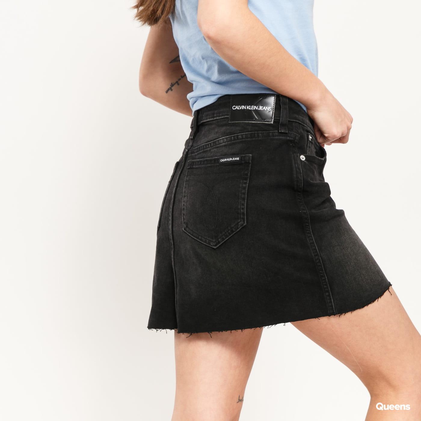 CALVIN KLEIN JEANS W Mid Rise Mini Skirt da095 black shank rwh