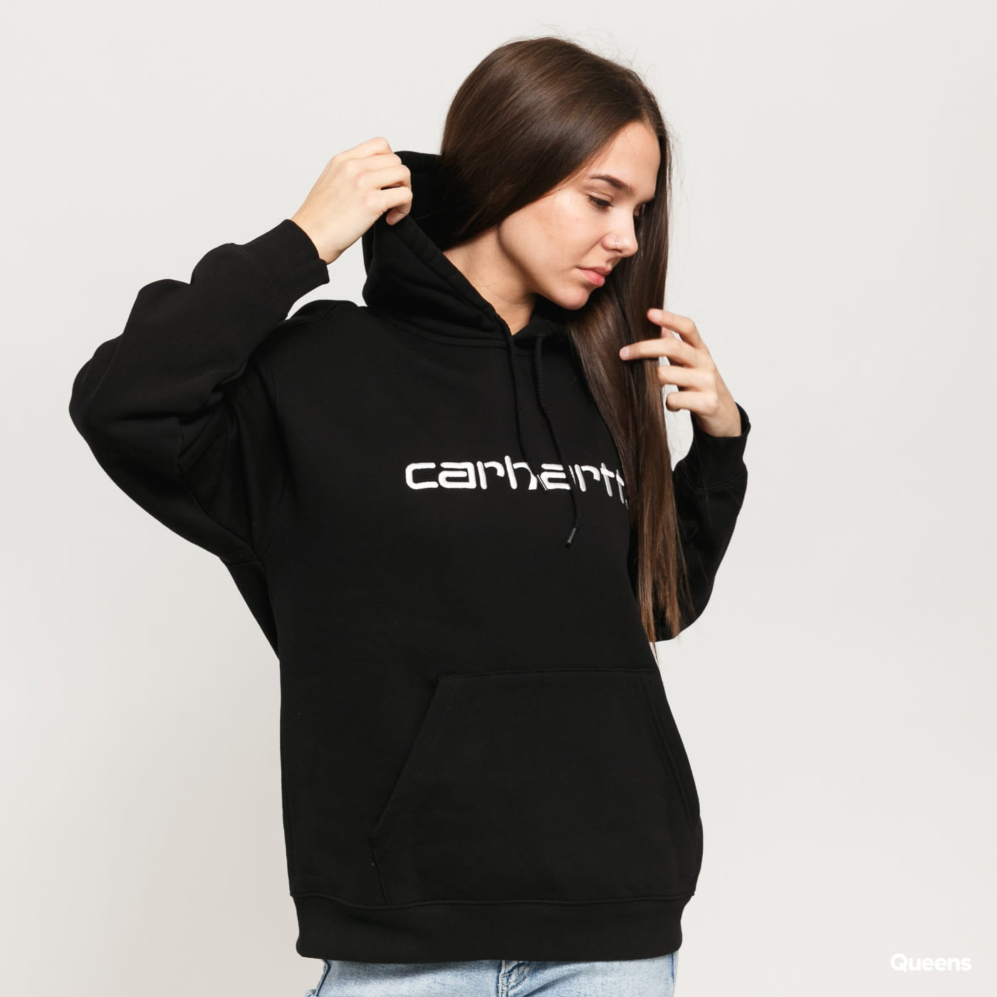 Carhartt WIP W Hooded Carhartt Sweat black