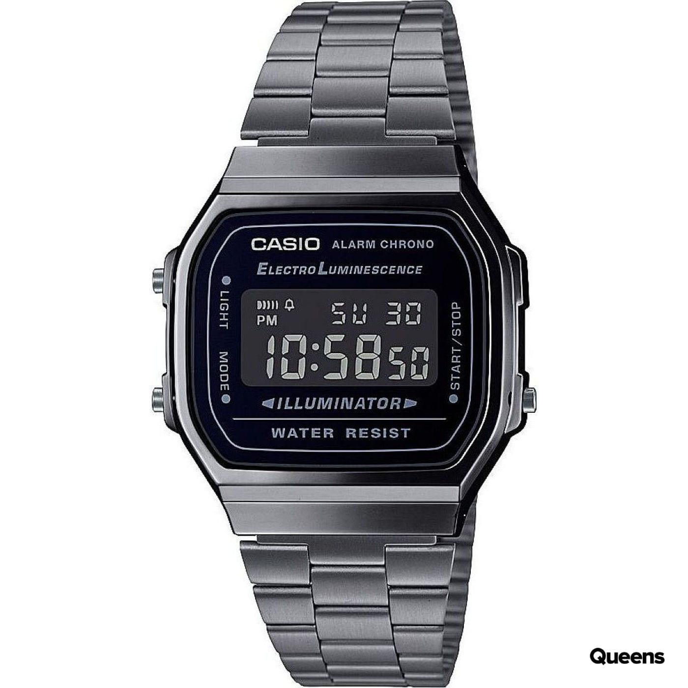Casio A 168WEGG-1BEF silber / schwarz