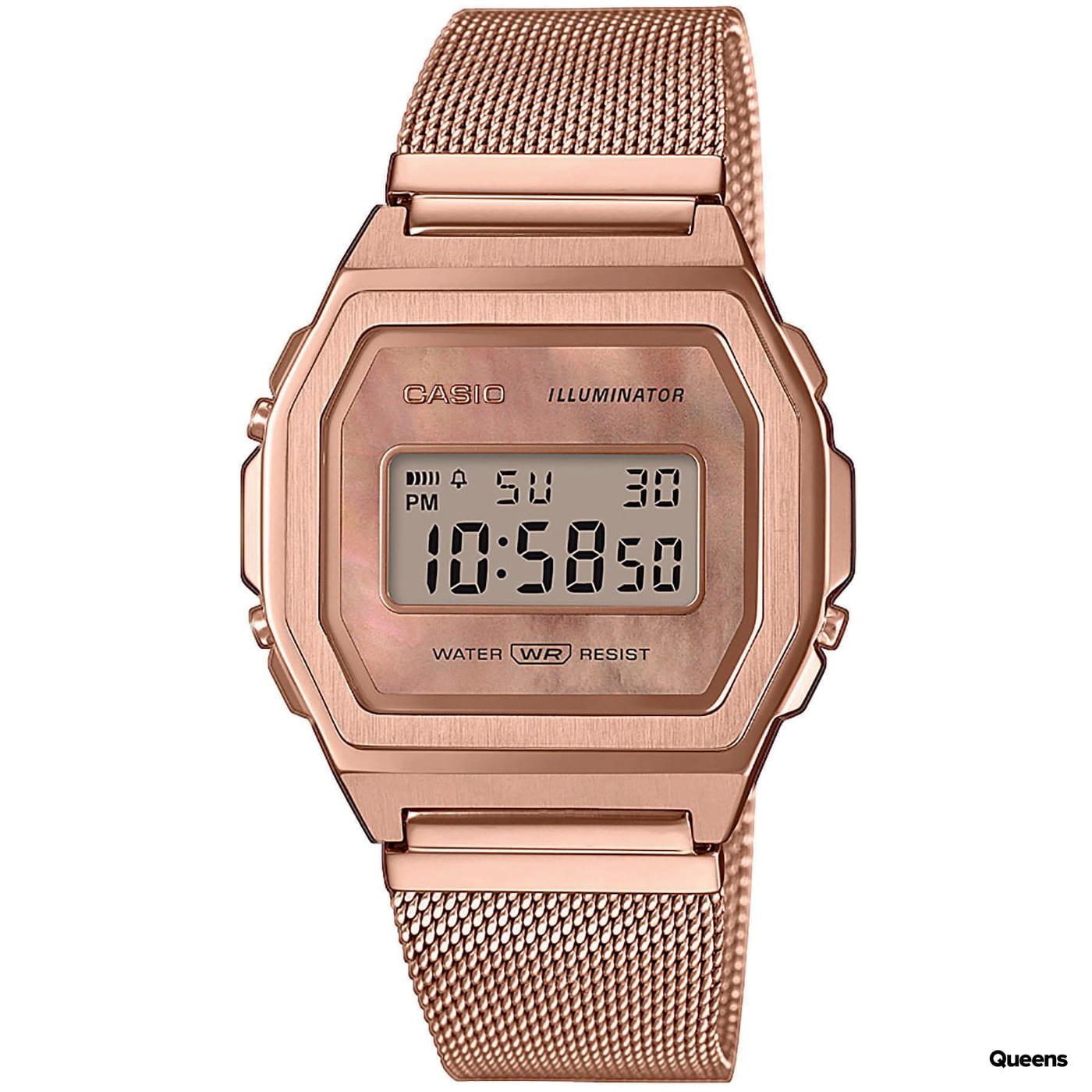 "Casio A1000MPG-9EF ""Vintage Premium"" ružovo-zlatá"