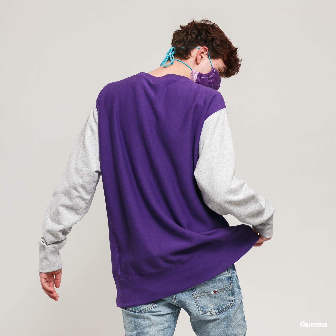 Champion Premium Crewneck Sweatshirt fialová / melange šedá