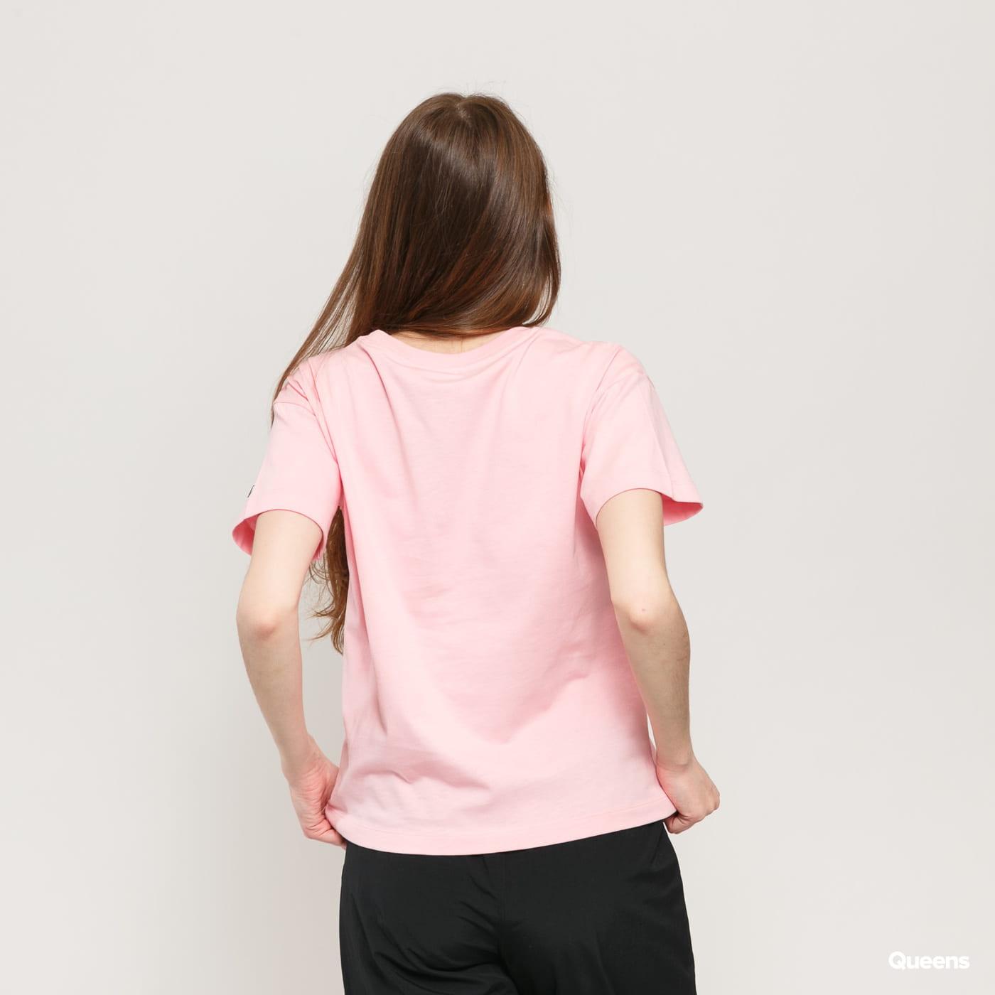 Champion Vintage Script Logo Crew Neck T-Shirt ružový