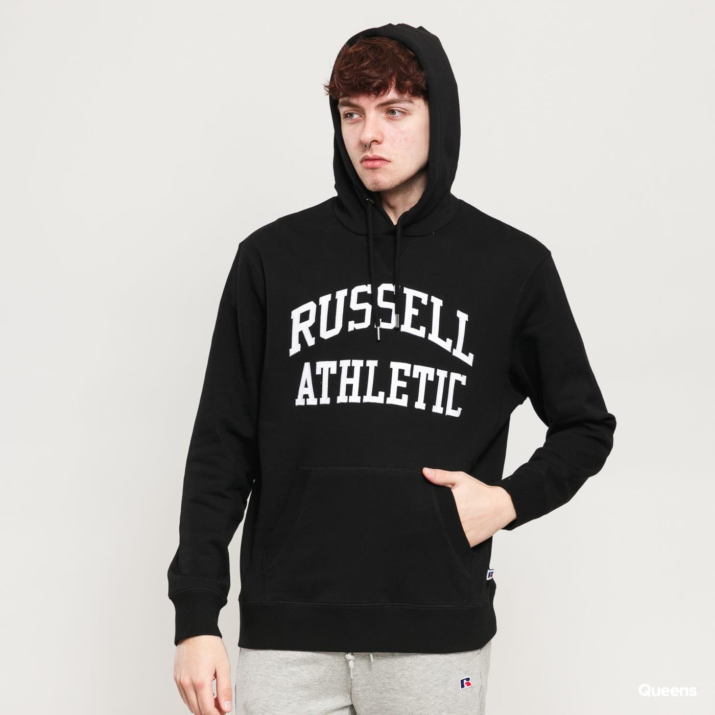 RUSSELL ATHLETIC Arch Logo Hoody černá