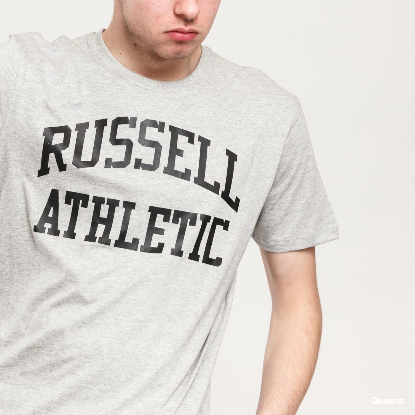 RUSSELL ATHLETIC Arch Logo T-Shirt melange šedé