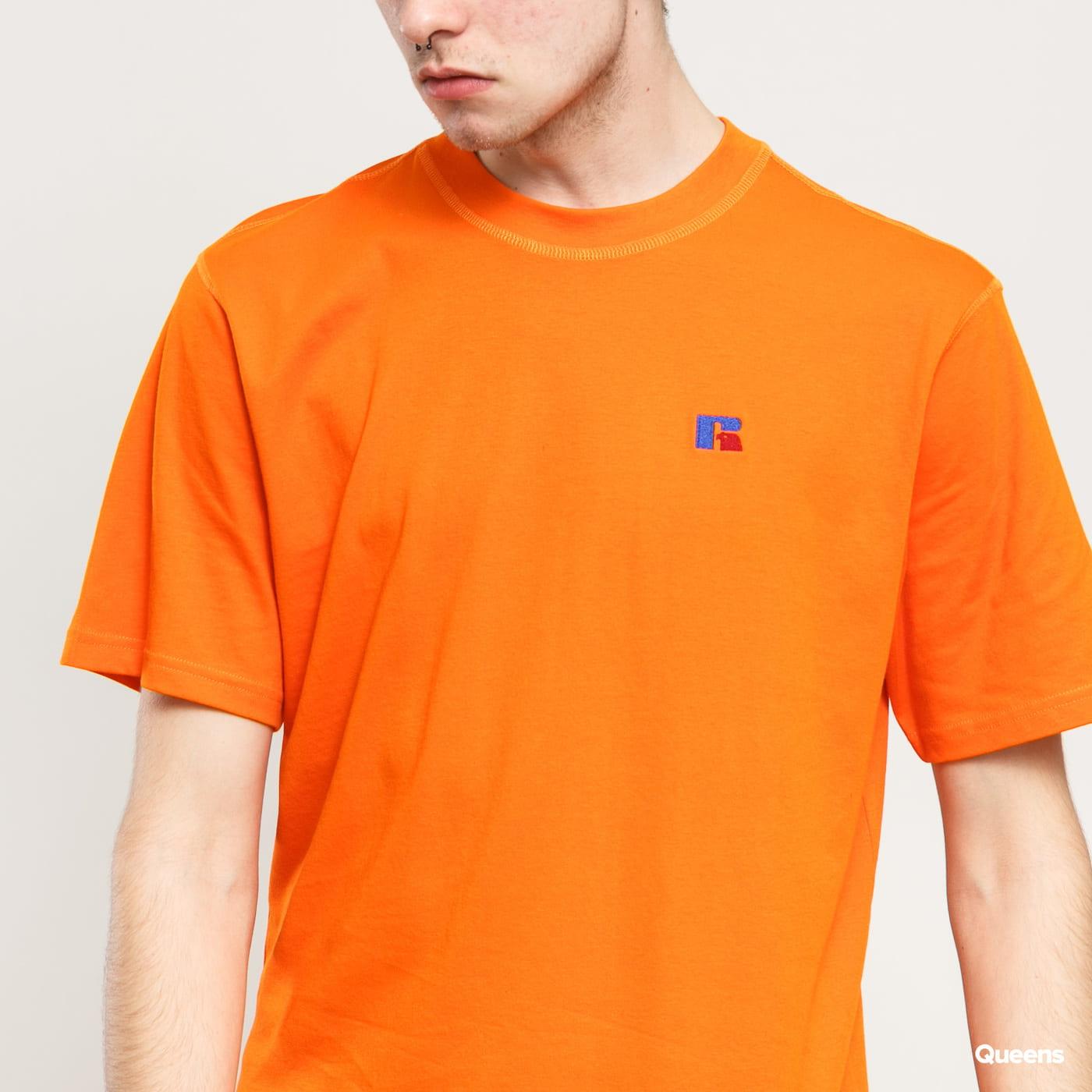 RUSSELL ATHLETIC Baseliner T-Shirt oranžové