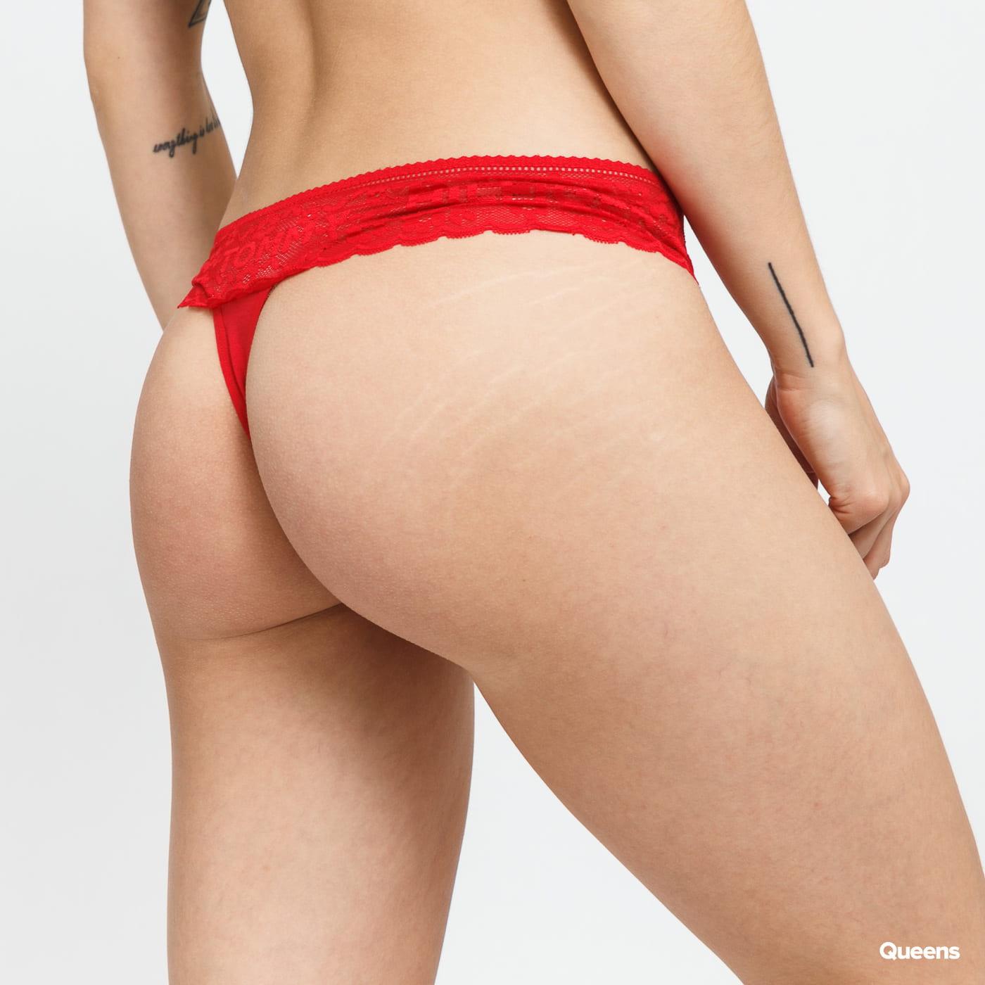Tommy Hilfiger 3Pack Thong dark green / light pink / red